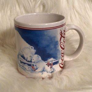 Coca Cola Mug | Vintage | Polar Bear Push